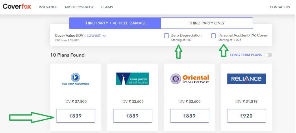 bike-scooty-or-car-insurance-online compare-kare